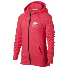 Girls 7-16 Nike 'Just Do It' Marled Nep Raglan Zip-Up Hoodie