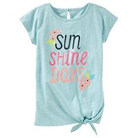 Girls 4-8 OshKosh B'gosh® Glittery Graphic Knot-Hem Tunic