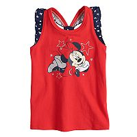 Disney's Minnie Mouse Toddler Girl Patriotic Glittery Graphic Tank Top by Jumping Beans®