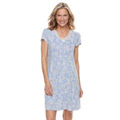 Women's Croft & Barrow® Printed V-Neck Nightgown