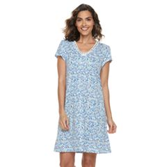 Women's Croft & Barrow® Printed V-Neck Nightgown