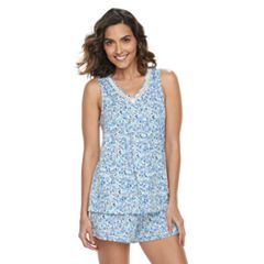 Women's Croft & Barrow® Printed Tank & Shorts Pajama Set