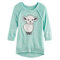 Girls 7-16 & Plus Size Miss Chievous 3/4 Hatchi Graphic Top