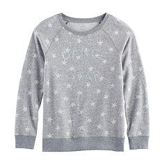 Girls 7-16 SO® Cozy Fleece Pullover Top