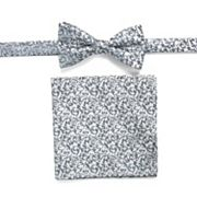 Men's Apt. 9® Geometric Pre-Tied Bow Tie & Pocket Square Set