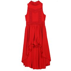 Girls 7-16 Speechless Lace High-Low Sleeveless Dress