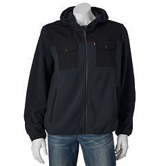 Men's Levi's® Fleece Mixed Media Hooded Jacket