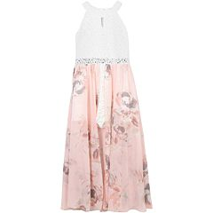 Girls 7-16 Speechless Rhinestone Accent Floral Maxi Romper