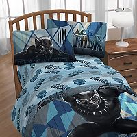 Marvel Black Panther Microfiber Twin Sheet Set
