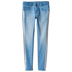 Girls 7-16 & Plus Size SO® Double Button Jegging Skinny Jeans