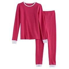 Girls 4-16 Cuddl Duds Thermal Top & Bottoms Set