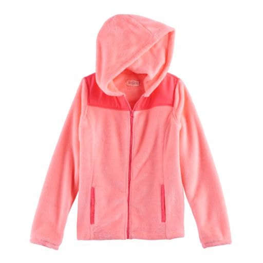 Girls 7-16 & Plus Size SO® Hooded Sherpa Zip-Up Jacket