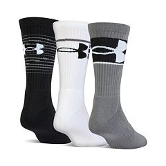Boys Under Armour 3-Pack Phenom Crew Socks