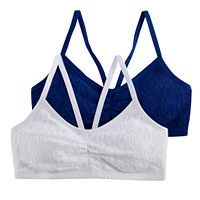 Girls 4-16 SO® 2 pkLace Bralettes
