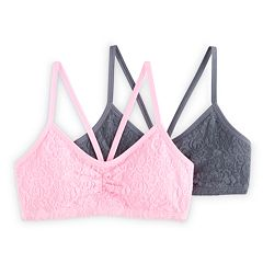 Girls 4-16 SO® 2-pk. Lace Bralettes
