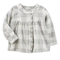 Baby Girl OshKosh B'gosh® Plaid Ruffle Top
