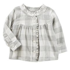 Baby Girl OshKosh B'gosh® Plaid Ruffle Top