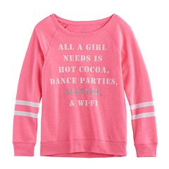 Girls 7-16 & Plus Size SO® Cozy Fleece Pullover Top