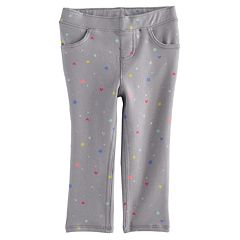 Baby Girl Jumping Beans® Print Glitter Leggings