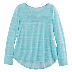 Girls 7-16 & Plus Size SO® Open Ruched Tie-Back Graphic Yoga Tee