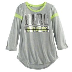 Girls 7-16 SO® 3/4-Sleeve Football Tee