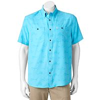 Men's Coleman Classic-Fit Textured Performance Button-Down Guide Shirt