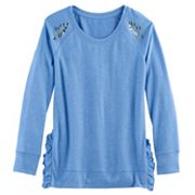 Girls 7-16 & Plus Size SO® Ruffle Sweater