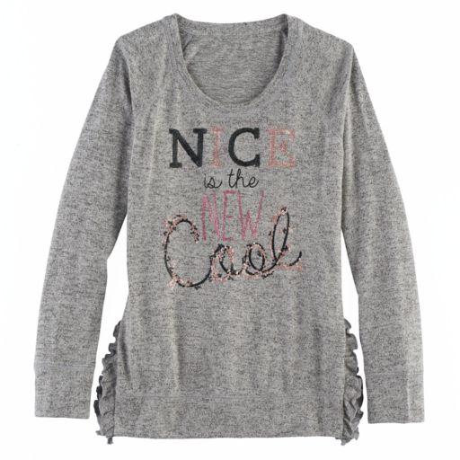 Girls 7-16 & Plus Size SO® Ruffle Sweater
