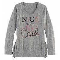 Girls 7-16 SO® Ruffle Sweater