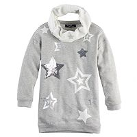 Girls 7-16 & Plus Size Sugar Rush Sequin Star Tunic & Infinity Scarf Set