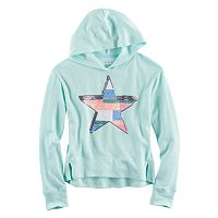 Girls 7-16 SO® Split Hem Graphic Hoodie