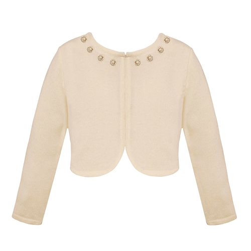 Girls 7-16 American Princess Jewel Neck Cardigan