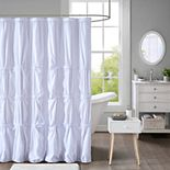Intelligent Design Quinn Pleated Shower Curtain