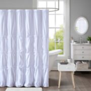 Intelligent Design Quinn Pleated Shower Curtain