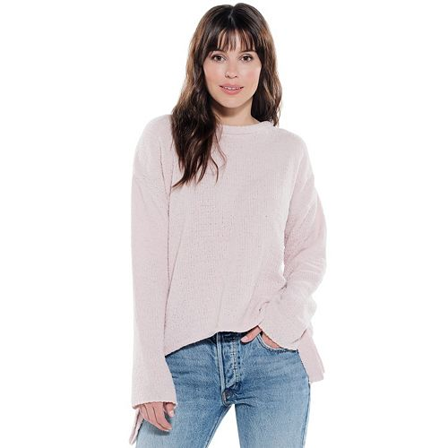 Juniors' Hint of Mint High-Low Sweater