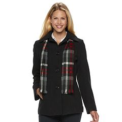 Women's TOWER by London Fog Wool Blend Jacket & Scarf Set