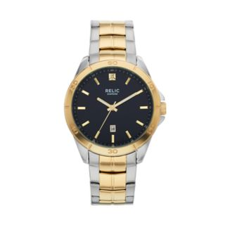 Relic Men's Chase Diamond Accent Two Tone Stainless Steel Watch - ZR12558
