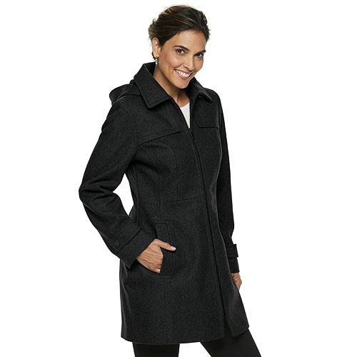 Women's TOWER by London Fog Zip-Front Wool Blend Jacket