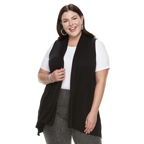 Plus Size Apt. 9® Sleeveless Cardigan