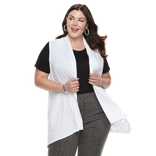 Plus Size Apt. 9® Sleeveless Cardigan