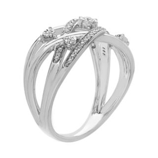 Sterling Silver 1/6 Carat T.W. Diamond Band Ring