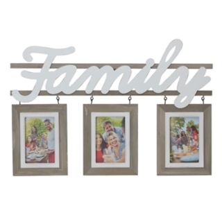 "Melannco ""Family"" 3-Opening 4"" x 6"" Collage Frame"