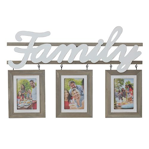 Melannco Family 3 Opening 4 X 6 Collage Frame