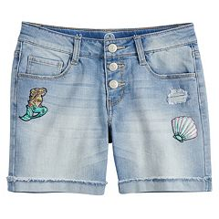 Girls 7-16 SO® Rolled Cuff Fashion Midi Denim Shorts