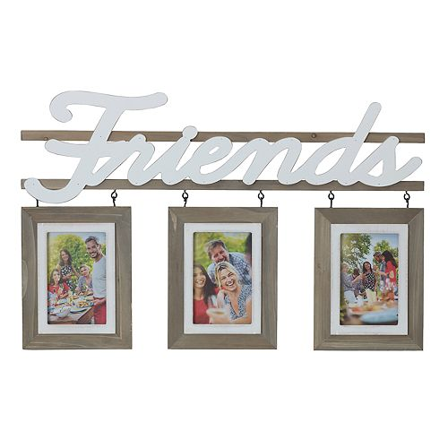 """Melannco """"Friends"""" 3-Opening 4"""" x 6"""" Collage Frame"""