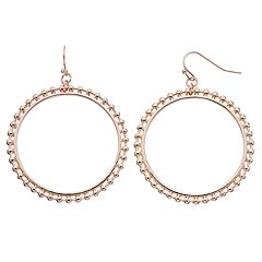 Nickel Free Beaded Hoop Drop Earrings