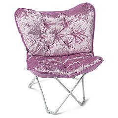 Simple by Design Sherpa Memory Foam Butterfly Chair