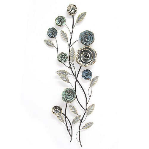 Stratton Home Decor Floral Metal Wall Decor