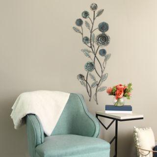 Stratton Home Decor Floral Metal Wall Decor