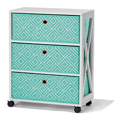 Simple by Design 3-Drawer Rolling Storage Tower